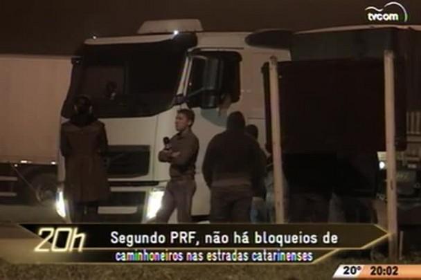 TVCOM 20 Horas - Greve dos caminhoneiros começa na quinta-feira, mas SC não registrou bloqueios nas estradas - 23.04.15