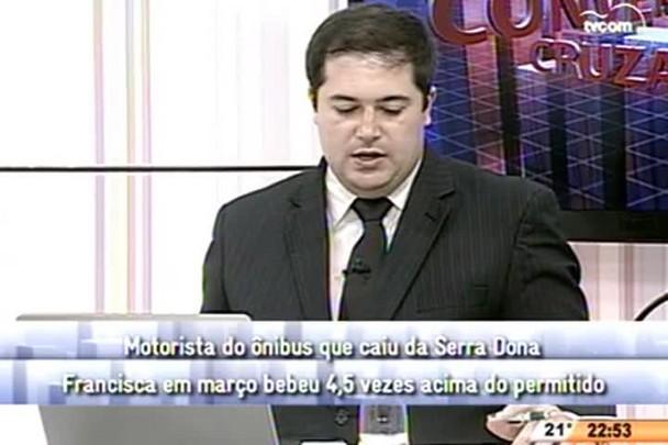 Conversas Cruzadas - Investigação do acidente na Serra Dona Francisca conclui imprudência do motorista - 4º Bloco - 15.05.15