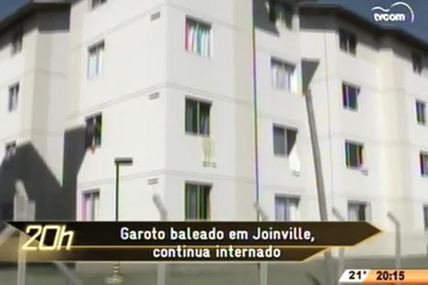 TVCOM 20 Horas - Garoto baleado em Joinville continua internado - 05.06.15