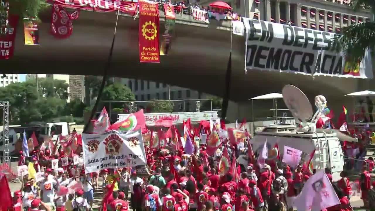 Protesto contra o impeachment no Vale do Anhangabaú