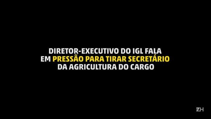 Diretor-executivo do IGL fala em pressão para tirar secretário da Agricultura do cargo