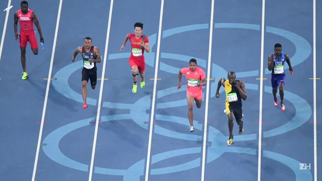 Usain Bolt é três vezes tri