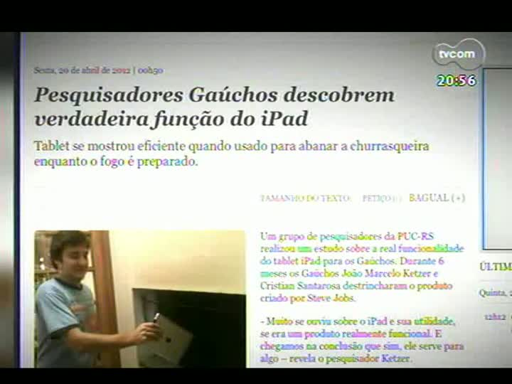 TVCOM Tudo Mais - Gregorio Duvivier, do Porta dos Fundos, brinca com notícias do site O Bairrista