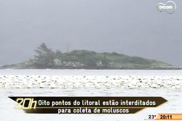 TVCOM 20h - Comércio de moluscos foi novamente interditado em oito pontos do litoral - 3.12.14
