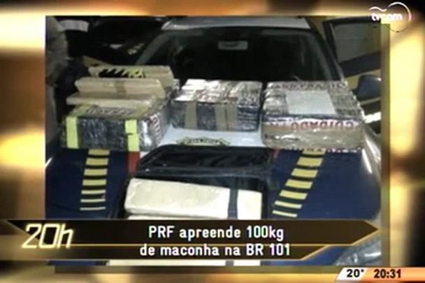TVCOM 20 Horas - PRF apreende 100kg de maconha na BR 101 - 04.06.15
