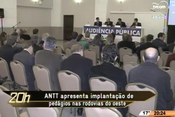 TVCOM 20 Horas - ANTT apresenta implantação de pedágios nas rodovias do oeste - 23.07.15