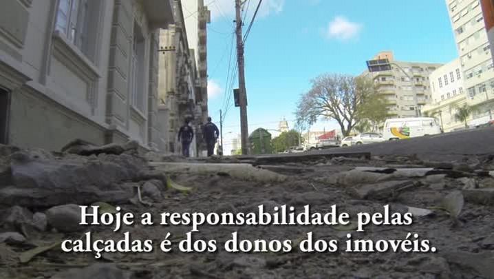 A situação das calçadas de Santa Maria