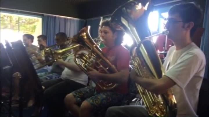 Banda da Lapa ensaia para apresentação do projeto Cinema ao Vivo, no MIS