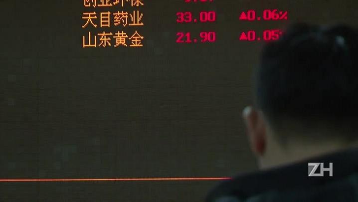 Bolsa de Xangai desaba 6,42%