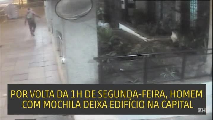 VÍDEO: imagens mostram suspeito de matar jornalista deixando prédio na Avenida João Pessoa, em Porto Alegre