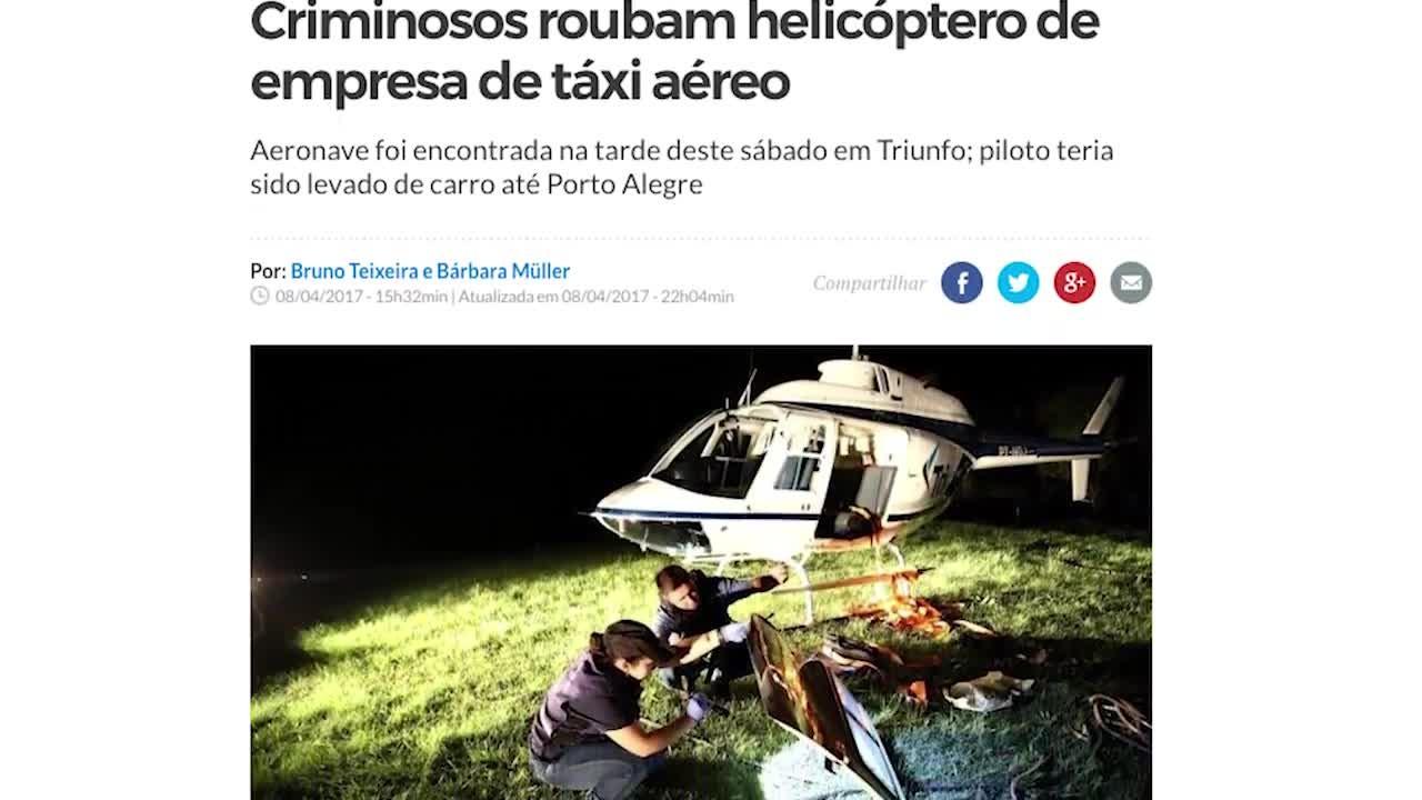 Delegado explica operação para prender integrantes de quadrilha investigada pelo sequestro helicóptero na Serra