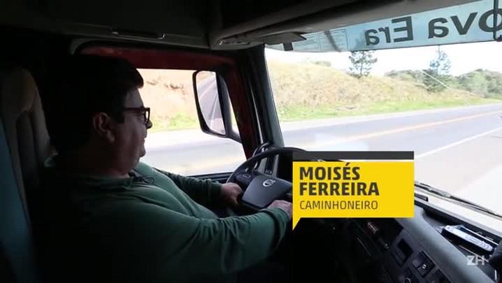 BR-386 em Soledade: caminhoneiro prefere pagar pedágio do que ficar sem assistência