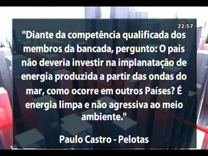 Conversas Cruzadas - Risco de apagões no setor elétrico brasileiro - Bloco 3 - 15/01/2013