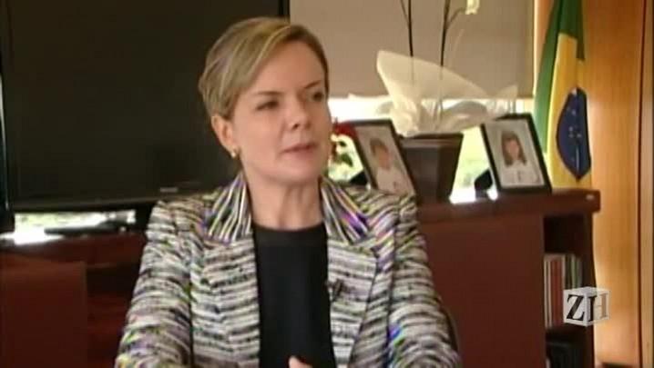 Entrevista com a ministra Gleisi Hoffmann