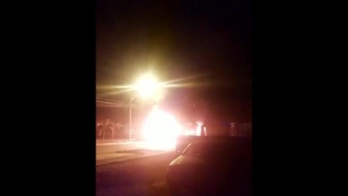 Ônibus é queimado na zona Sul de Joinville