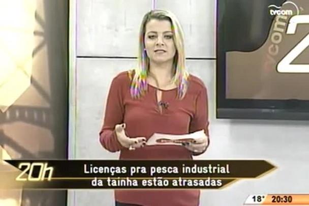 TVCOM 20 Horas - Licenças para pesca industrial da tainha estão atrasadas - 01.06.15