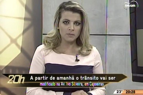 TVCOM 20 Horas - Trânsito vai ser modificado na Av. Ivo Silveira, em Capoeiras - 08.06.15