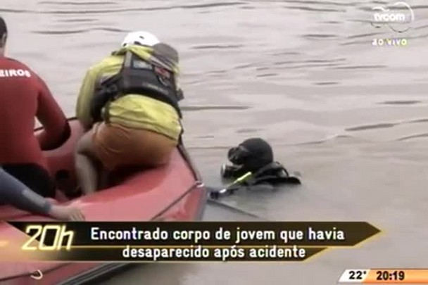 TVCOM 20 Horas - Encontrado corpo de jovem de que havia desaparecido após acidente - 22.06.15