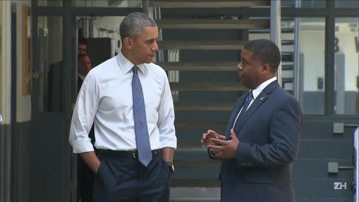 Obama é o 1o. presidente americano em exercício a visitar um presídio