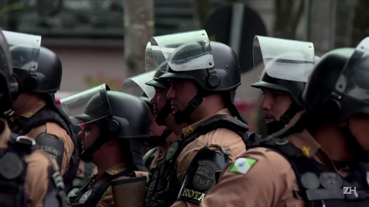 Esquema de segurança reforçado em Curitiba