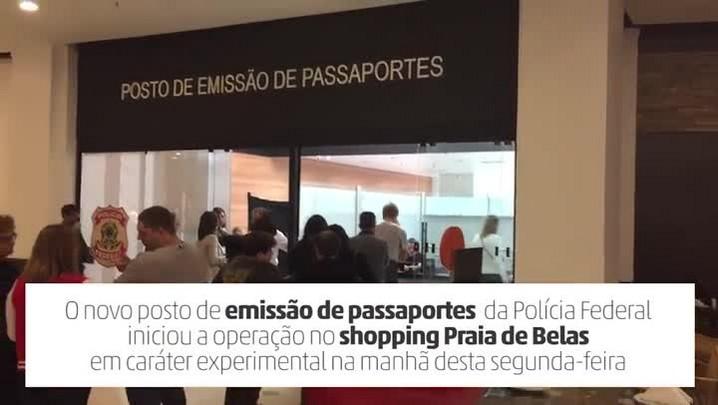 PF inicia atendimento para retirada de passaportes no novo posto do shopping Praia de Belas
