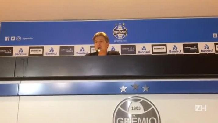 """Renato: \""""Todo mundo que joga com o Grêmio quer tirar uma casquinha\"""""""