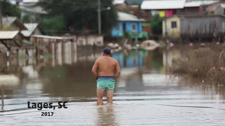 Chuvas afetam moradores da cidade de Lages, SC