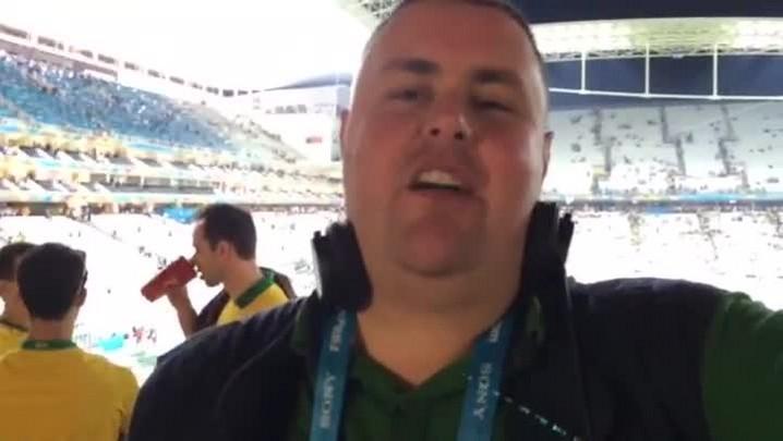 Gigante na Copa: torcedores falam sobre a primeira partida do Brasil na Copa - 12/06/2014