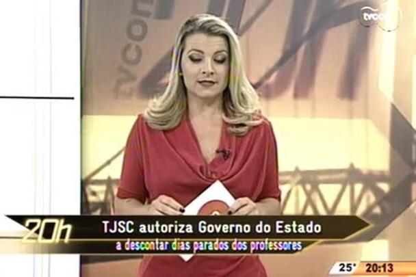 TVCOM 20 Horas - TJSC autoriza Governo do Estado a descontar dias parados dos professores em greve - 01.05.15