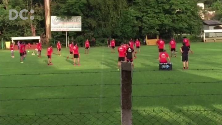River Plate treina em São Carlos antes do jogo contra a Chapecoense