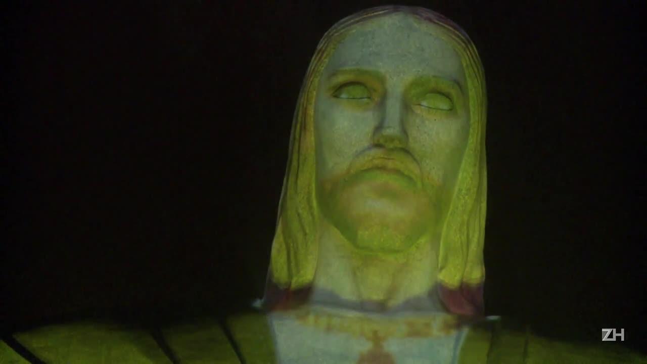 A cem dias dos Jogos, Cristo ganha cores do Brasil