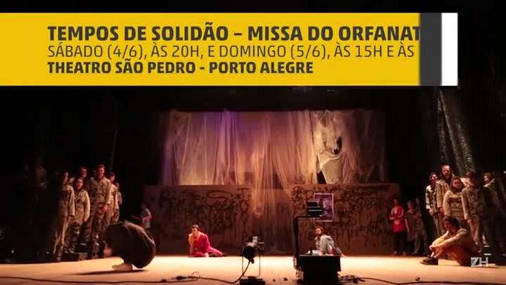 """Ensaio do espetáculo \""""Tempos de Solidão – Missa do Orfanato\"""""""