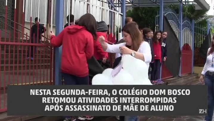 Com homenagens, Colégio Dom Bosco retoma as aulas após assassinato de mãe de aluno