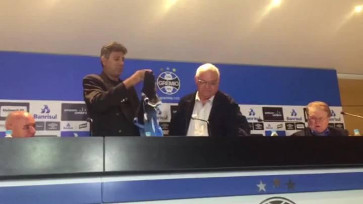 Renato Portaluppi é apresentado no Grêmio