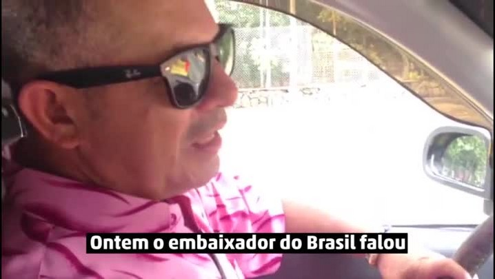 "\""Choramos desde o primeiro dia\"", diz taxista colombiano"