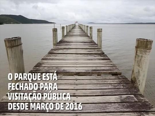 Portas fechadas no Parque Estadual de Itapuã