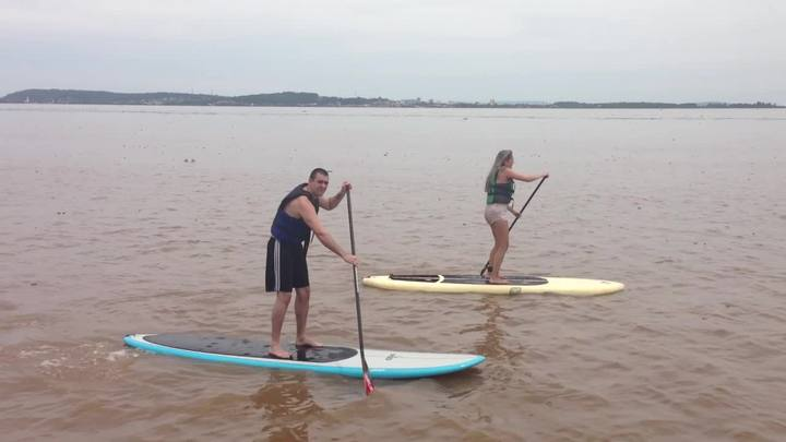 Esportes na orla: stand up paddle