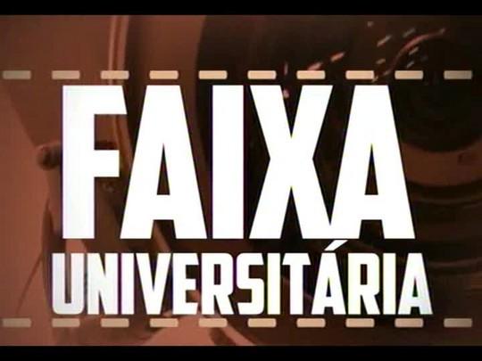 Faixa Universitária - Alunos da Unifra mostram o empenho de quem torce para a seleção no horário de trabalho