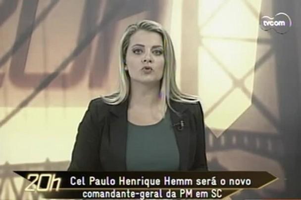 TVCOM 20h - Cel Paulo Henrique Hemm assume comando geral da PM em SC em 2015 - 12.12.14