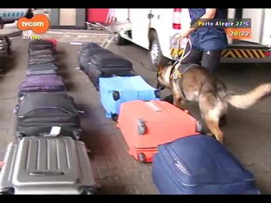 TVCOM 20 Horas - Começa operação do Salgado Filho para vistoriar bagagens de voos internacionais - 16/12/2014