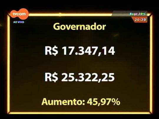 TVCOM 20 Horas - Deputados estaduais aprovam aumento em seus salários, além do governador, vice e secretários - 18/12/2014