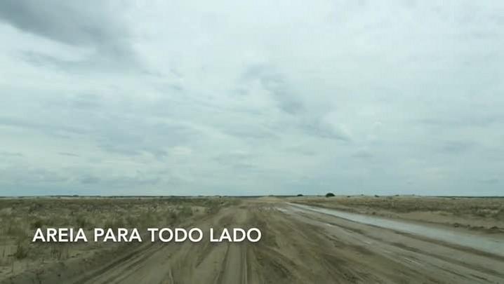 O caminho até Mostardas: das dunas junto à lagoa aos buracos na estrada
