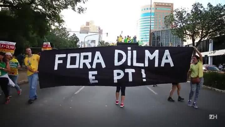Imagens da manifestação em Porto Alegre