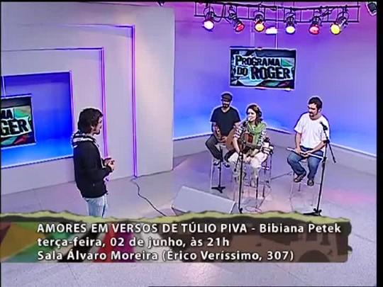 Programa do Roger - Bibiana Petek - Bloco 3 - 01/06/15