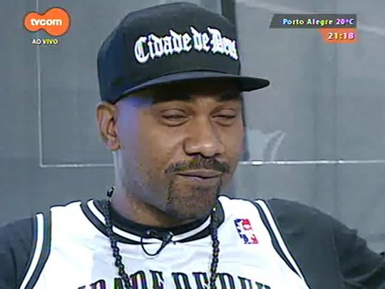 TVCOM Tudo Mais - Rapper MV Bill faz show na capital e aproveita para passar pelo palco do Tudo+