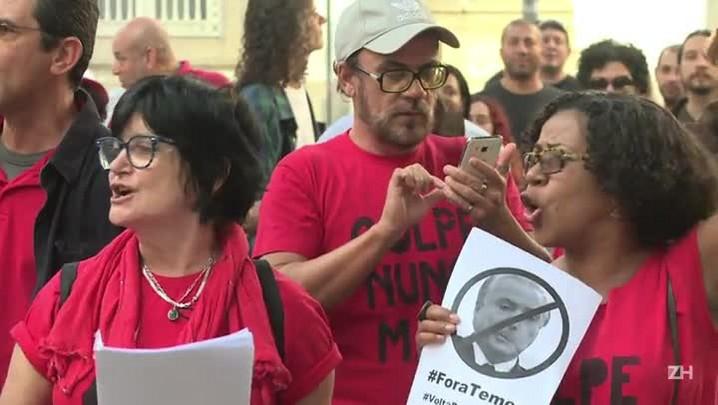 Manifestação contra Temer no Rio