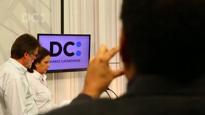 Bastidores do debate com os candidatos à Prefeitura de Florianópolis promovido pela CBN