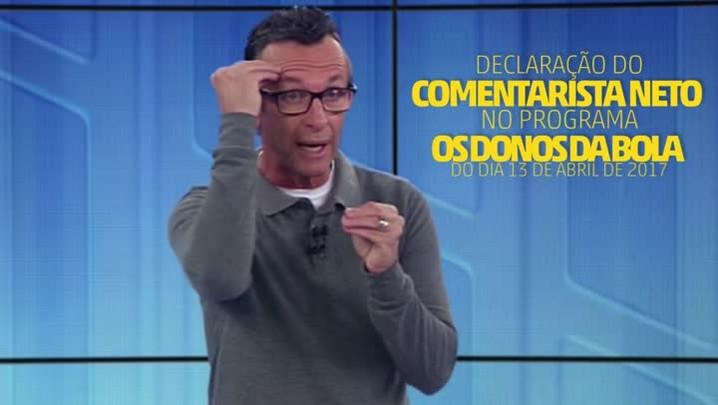 """Ouça áudio de Neto chamando atletas do Inter de \""""jogadorzinhos\"""""""