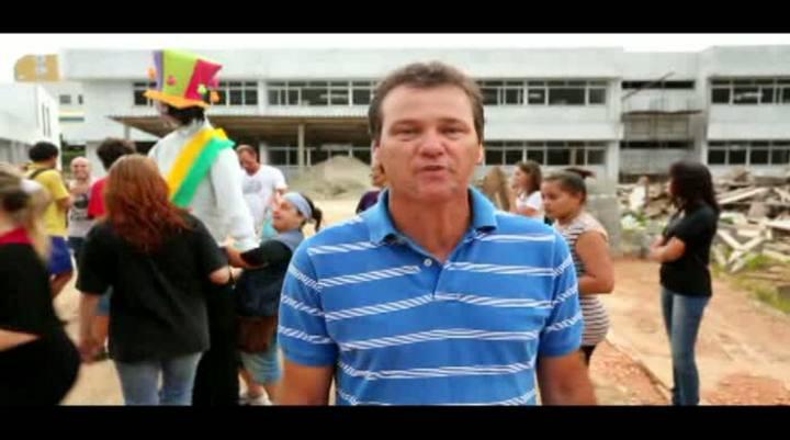 Manifestação de estudantes no Rio Tavares