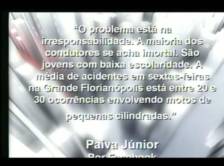 Conversas Cruzadas – Acidentes com motociclistas - 3º Bloco – 02/09/2013